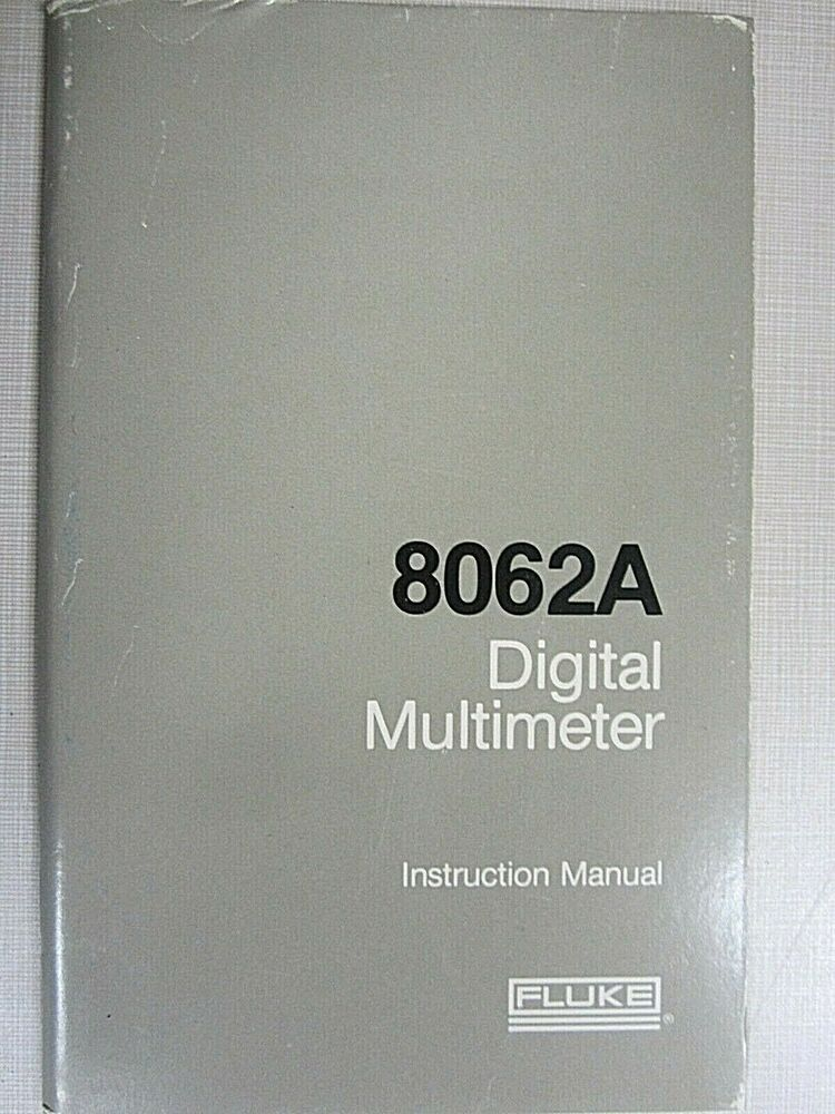 Fluke 45 Multimeter user manual