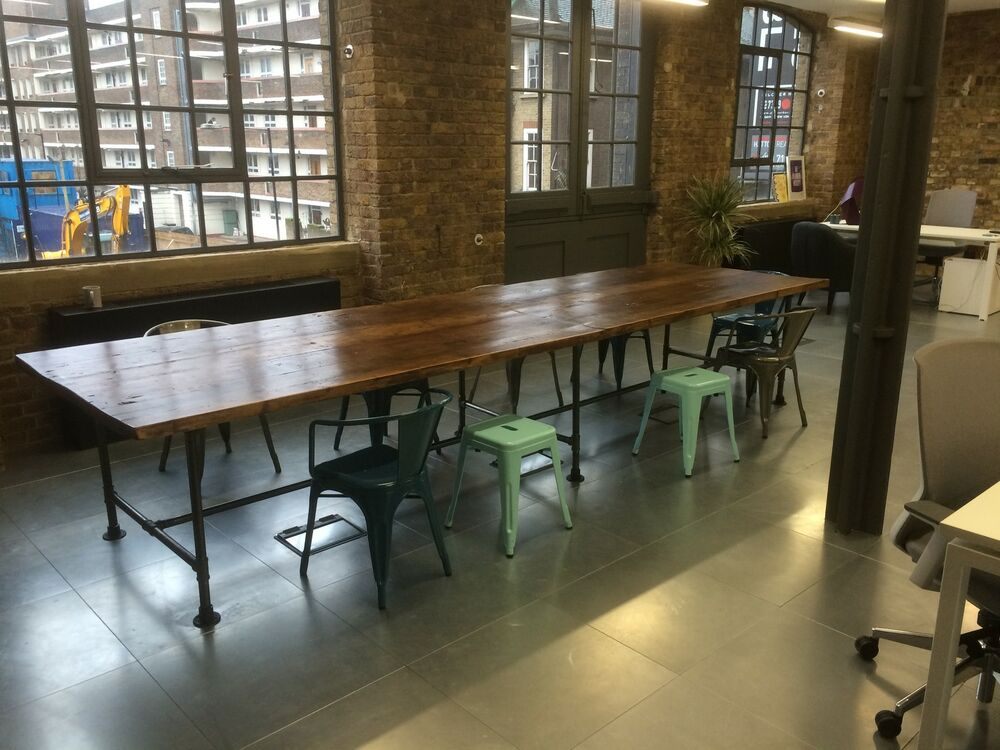 Extra Large Boardroom Dining Table With Vintage