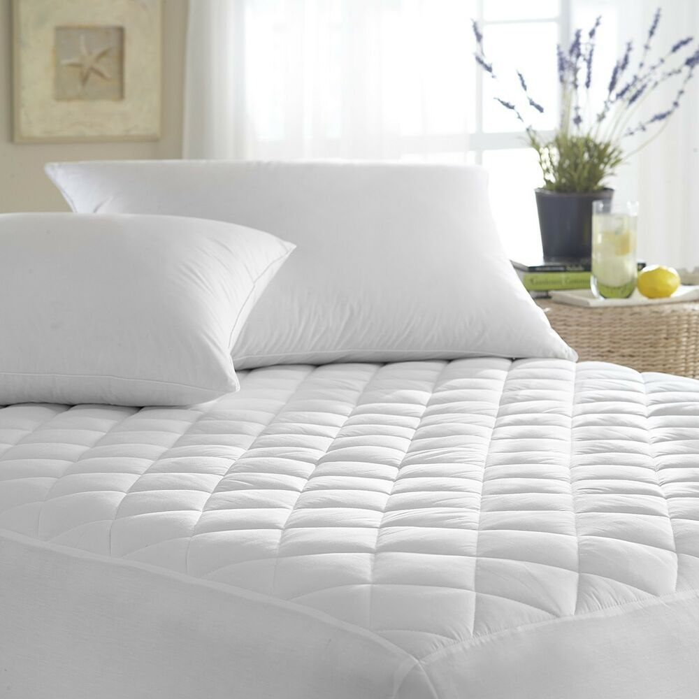 Quilted Waterproof Hypoallergenic Bedbug Mattress Pad Cover Protector Ebay