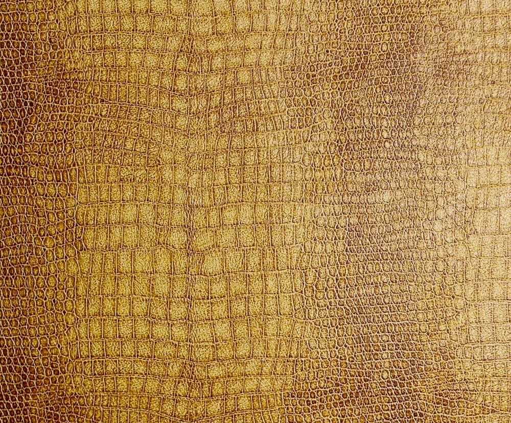 upholstery vinyl faux leather alligator caramel color 54 wide fabric by yard ebay. Black Bedroom Furniture Sets. Home Design Ideas