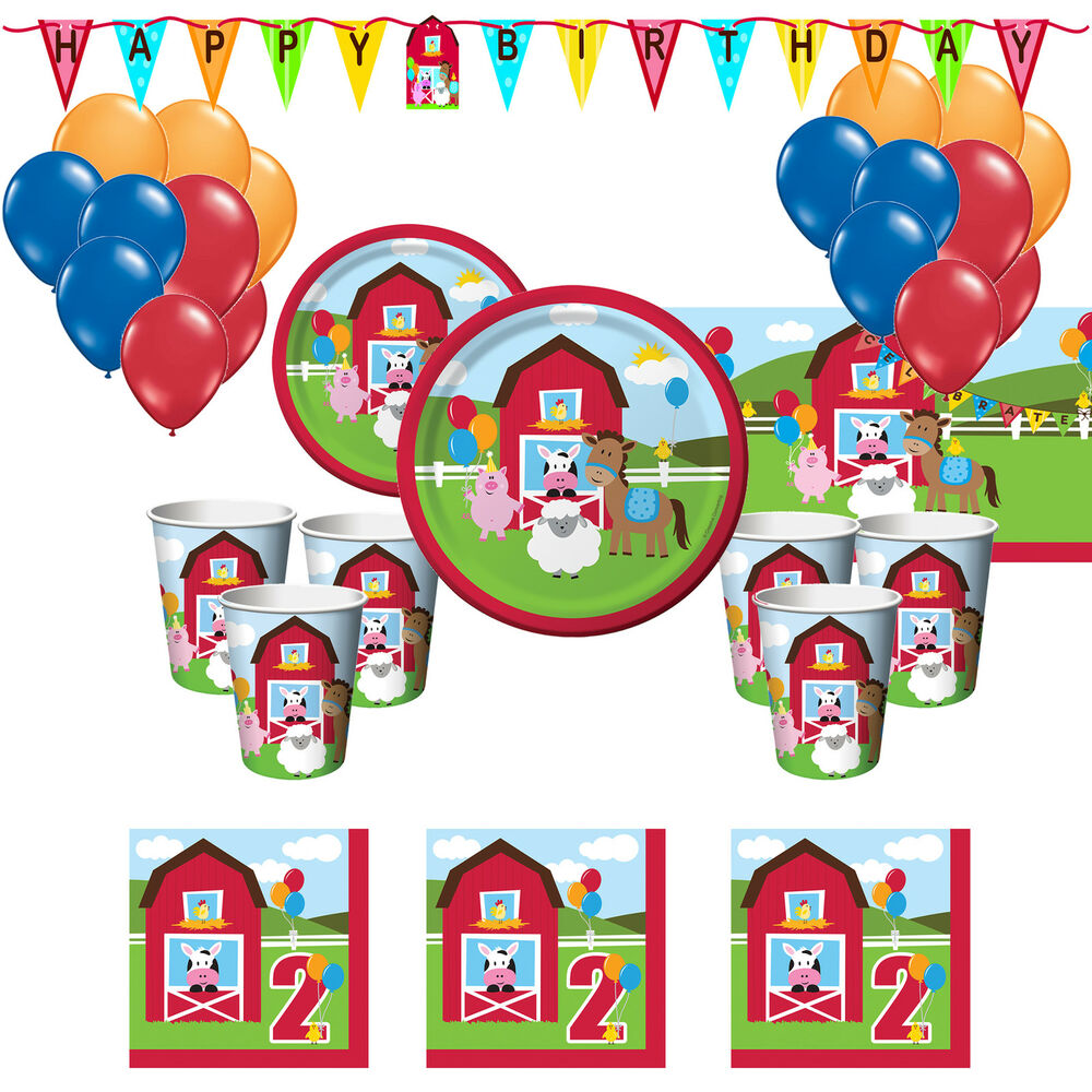 Farm Fun Boys & Girls Deluxe 2nd Second Birthday Party