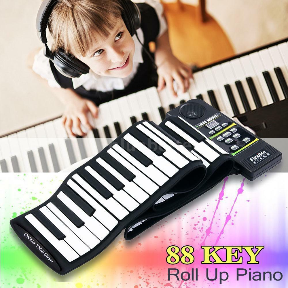 Silicon Flexible 88 Key Piano Keyboard Roll Up Piano With