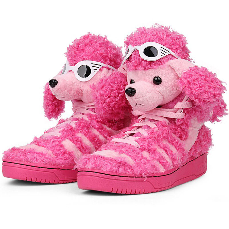 adidas by jeremy scott js poodle pudel pink schuhe sneaker turnschuhe rosa pink ebay. Black Bedroom Furniture Sets. Home Design Ideas