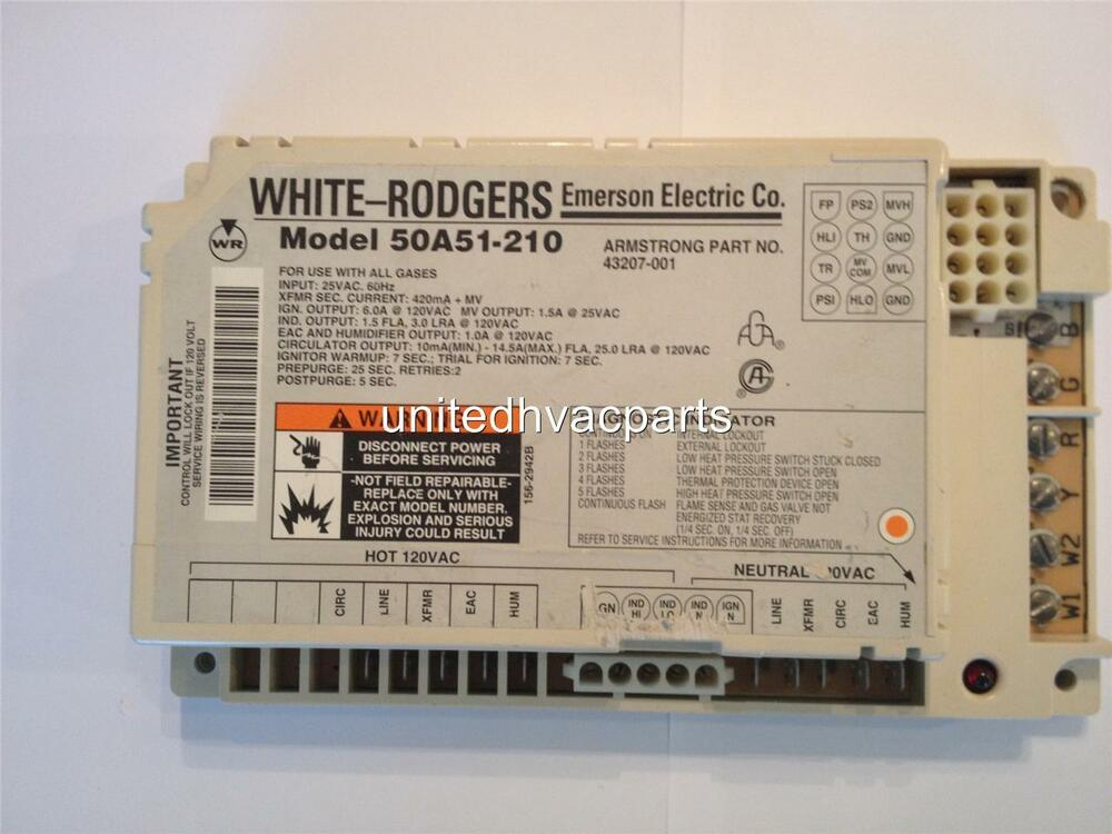white rodgers 50a51 210 armstrong control 2 stage 43207 001 control rh ebay com