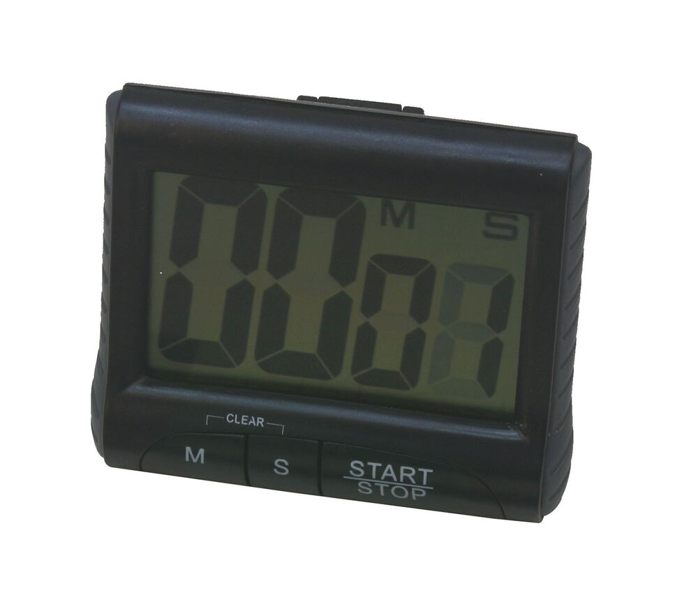 Loud Alarm Large LCD Digital Kitchen Timer Count-Down Up