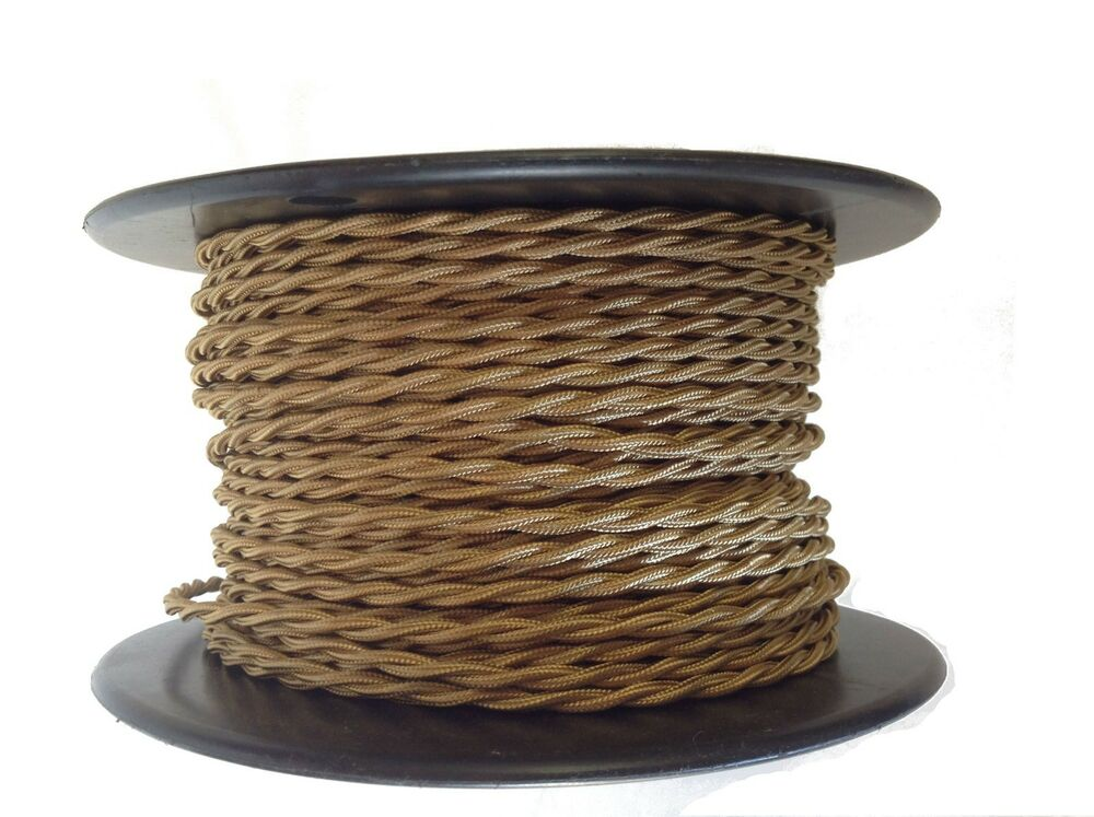 bronze twisted rayon covered wire antique style cloth lamp cord. Black Bedroom Furniture Sets. Home Design Ideas