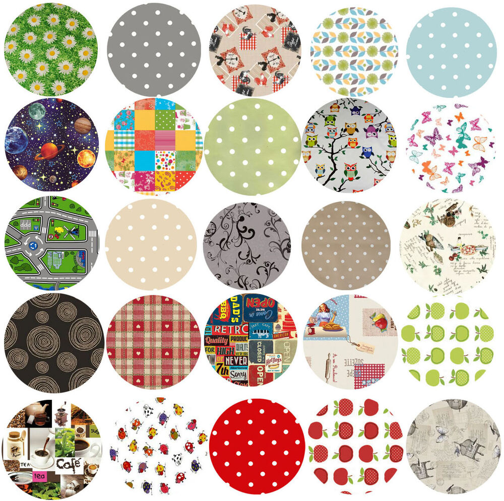 Wipe Clean Tablecloth Oilcloth Vinyl Pvc 140cm Round