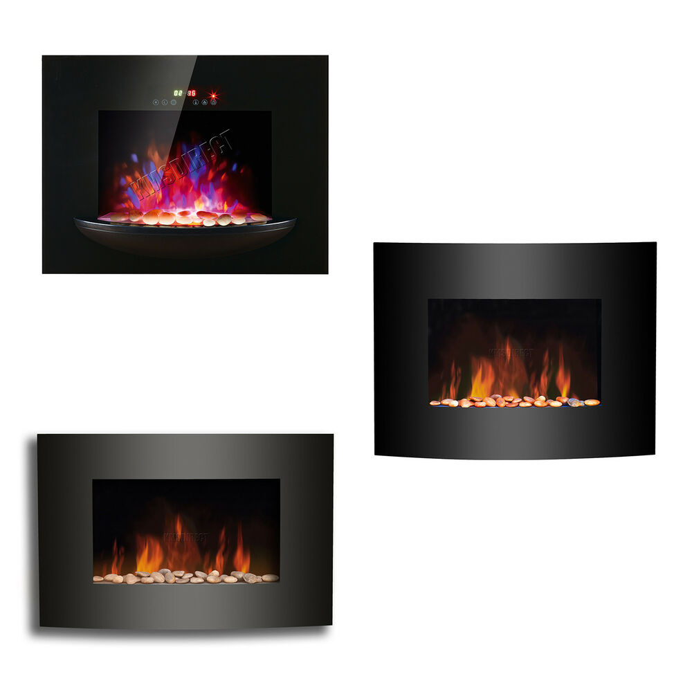 Led Flame Effect Wall Mounted Electric Fire Fireplace