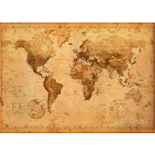 World Map - Antique Giant Poster Print, 55x39 (World Map)