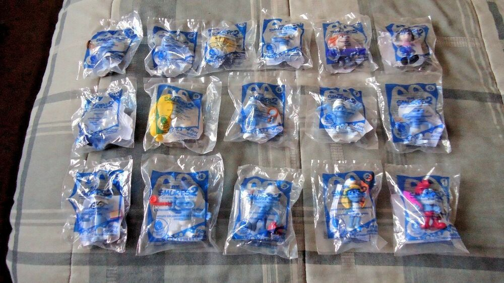 rare 2013 smurfs 2 mcdonalds happy meal toys complete set