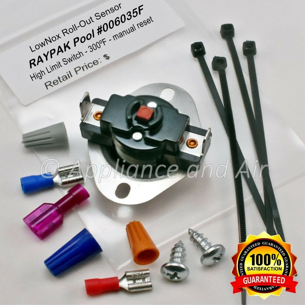006035f Raypak Lownox Roll Out Switch 300f Pool Heater