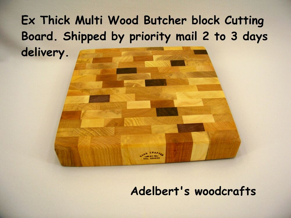 End grain multi wood cutting board chopping block quot by