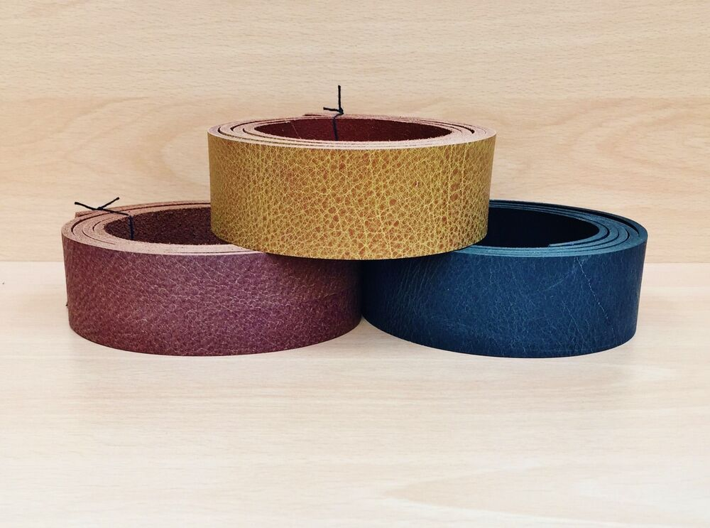 buffalo leather belt blanks assorted colours 4 mm