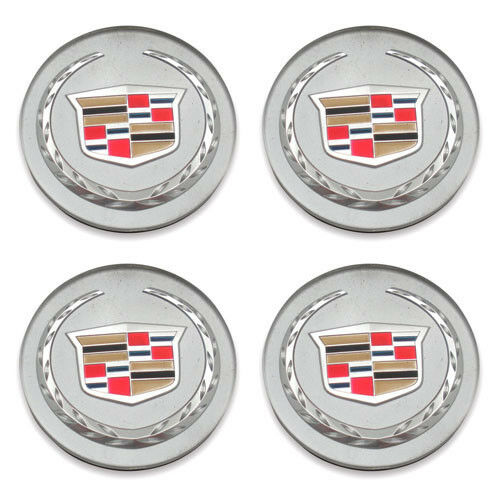 BENZEE 4pcs W037 68mm Car Styling Accessories Emblem Badge Sticker Wheel Hub Caps Centre Cover Cadillac ATS CTS EXT SRX XTS XLR