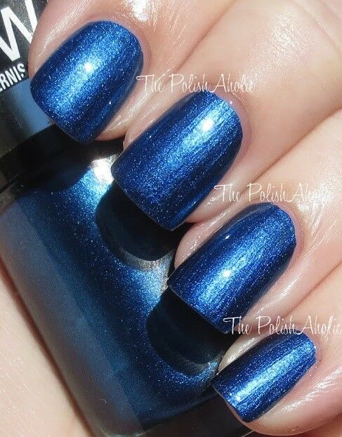Maybelline(3 PACK) Color Show Nail Lacquer METALLICS NAVY NARCISSIST ...