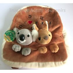 Kyпить 1x Australian Souvenir Plush Backpack - Brown Koala & Kangaroo - I Love Aussie  на еВаy.соm