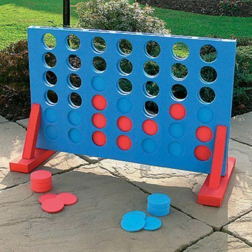 giant connect four garden game 4 in a row indoor outdoor. Black Bedroom Furniture Sets. Home Design Ideas