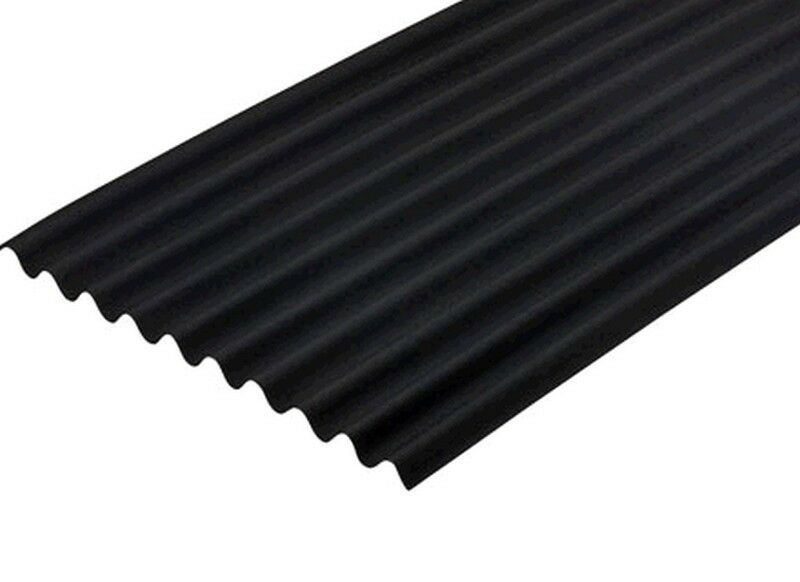Black Onduline Roofing Sheet 3mm 950 X 2000mm Bitumen