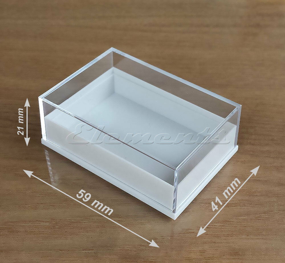 Plastic clear top lid collectables boxes display beads pendants earrings p008 ebay - Top plastic krukje ...
