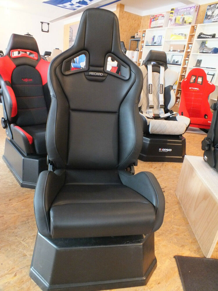 recaro sportster cs kunstleder schwarz inkl konsole golf. Black Bedroom Furniture Sets. Home Design Ideas