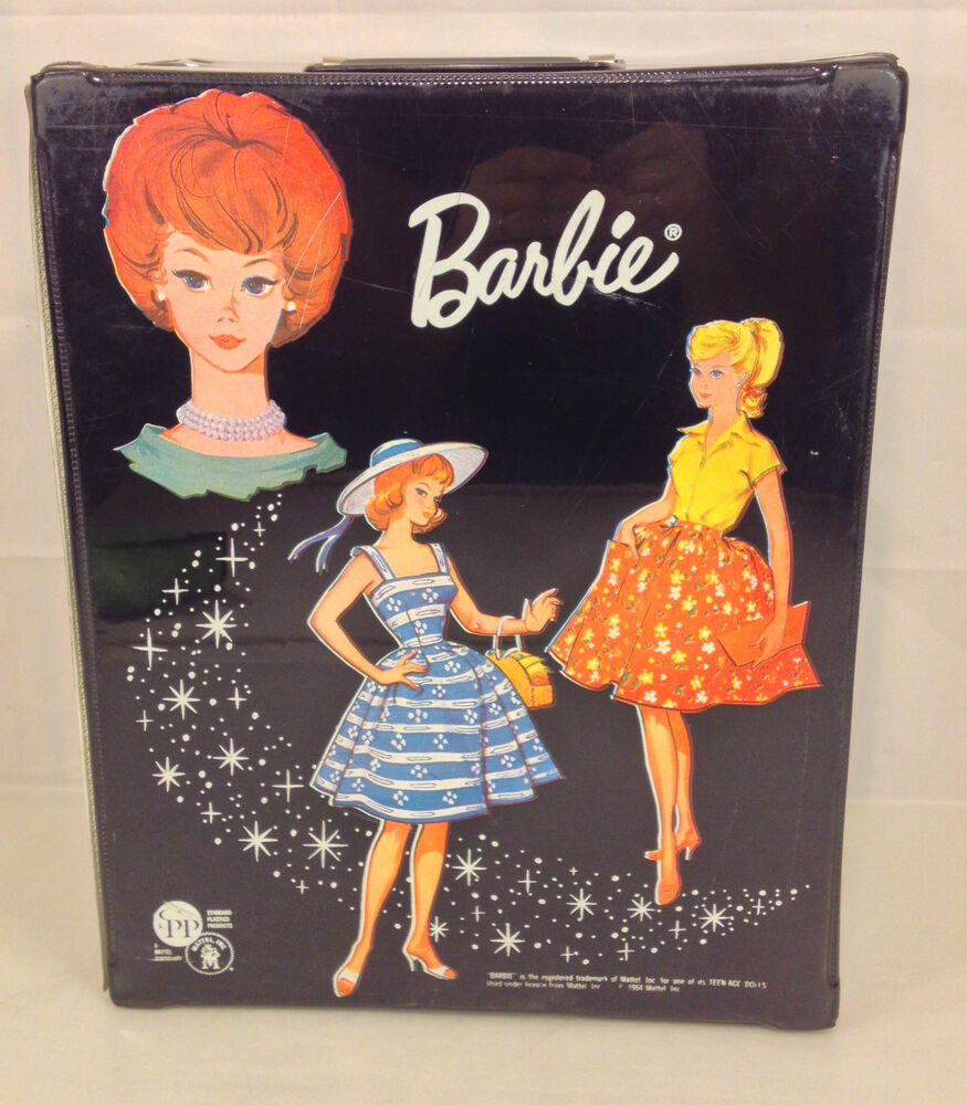Vintage 1963 Barbie Carrying Case SPP Mattel Yellow Flair Coat 76