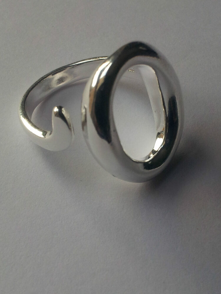 925 sterling silver plated adjustable thumb finger ring
