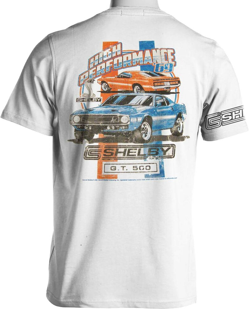 shelby gt 500 mustang t shirts ford cobra muscle car mens. Black Bedroom Furniture Sets. Home Design Ideas