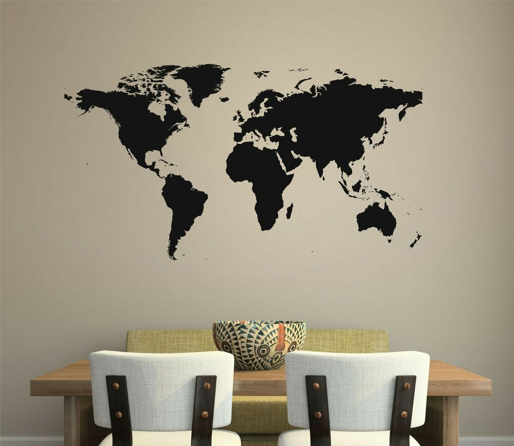 World Map Wall Decal Removable Sticker Home Decor Mural