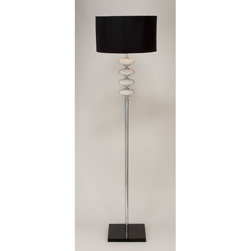 Contemporary modern metal glass floor lamp lamps black for Modern contemporary floor lamp