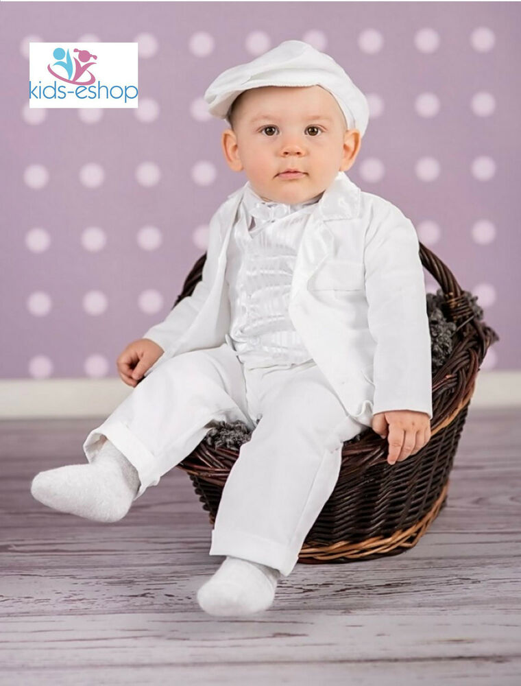 Baby Boy Christening Pageboy Formal Smart Suit Hat Outfit
