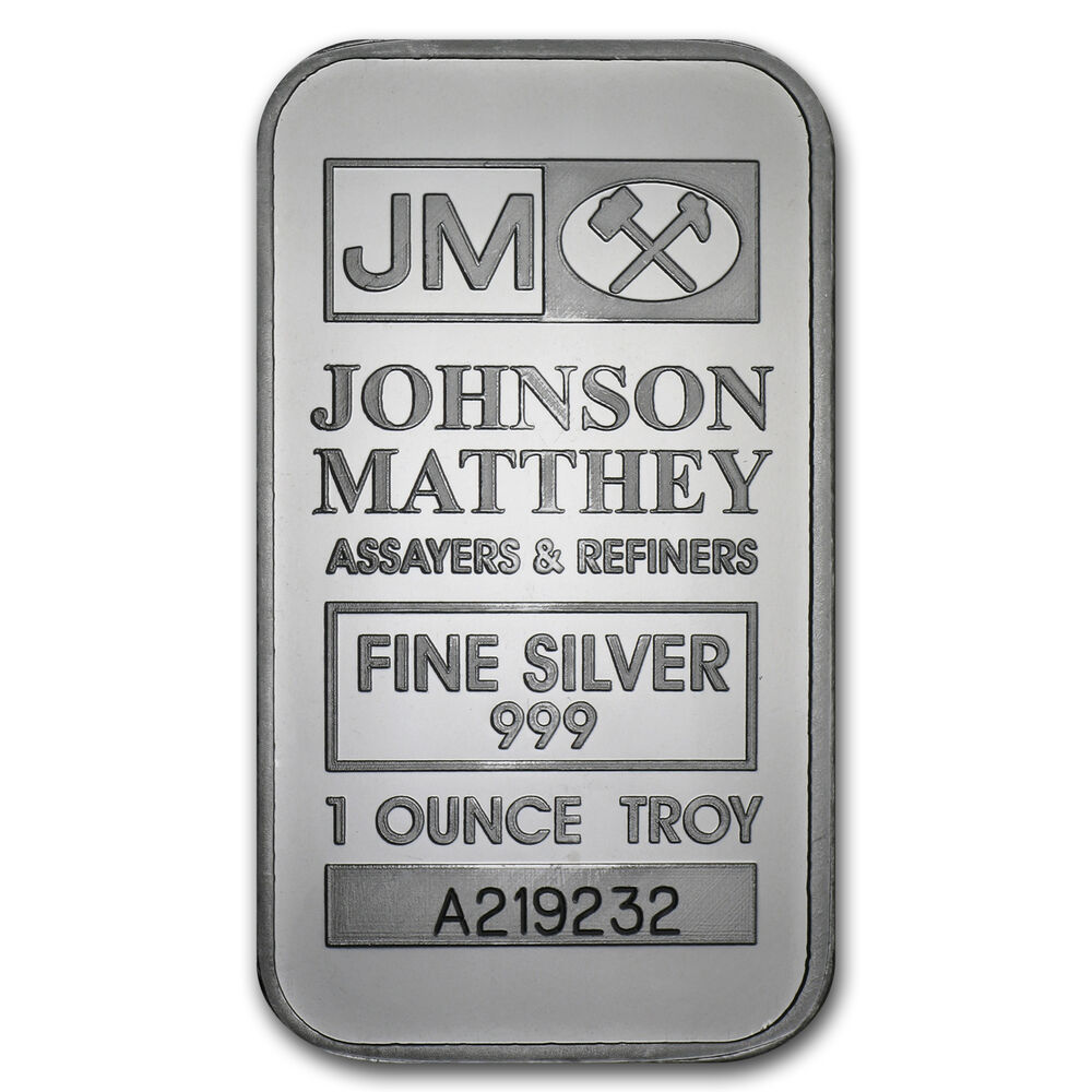 1 Oz Johnson Matthey Silver Bar Sku 68308 Ebay