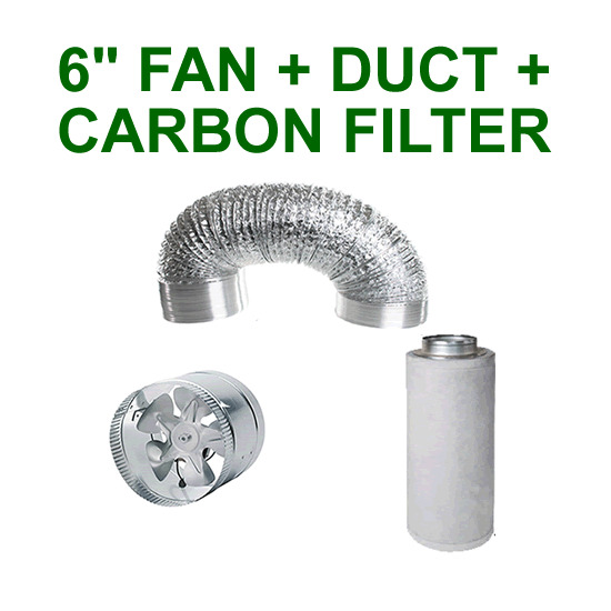 6 Quot 150mm Vent Extractor Fan Carbon Filter Aluminium