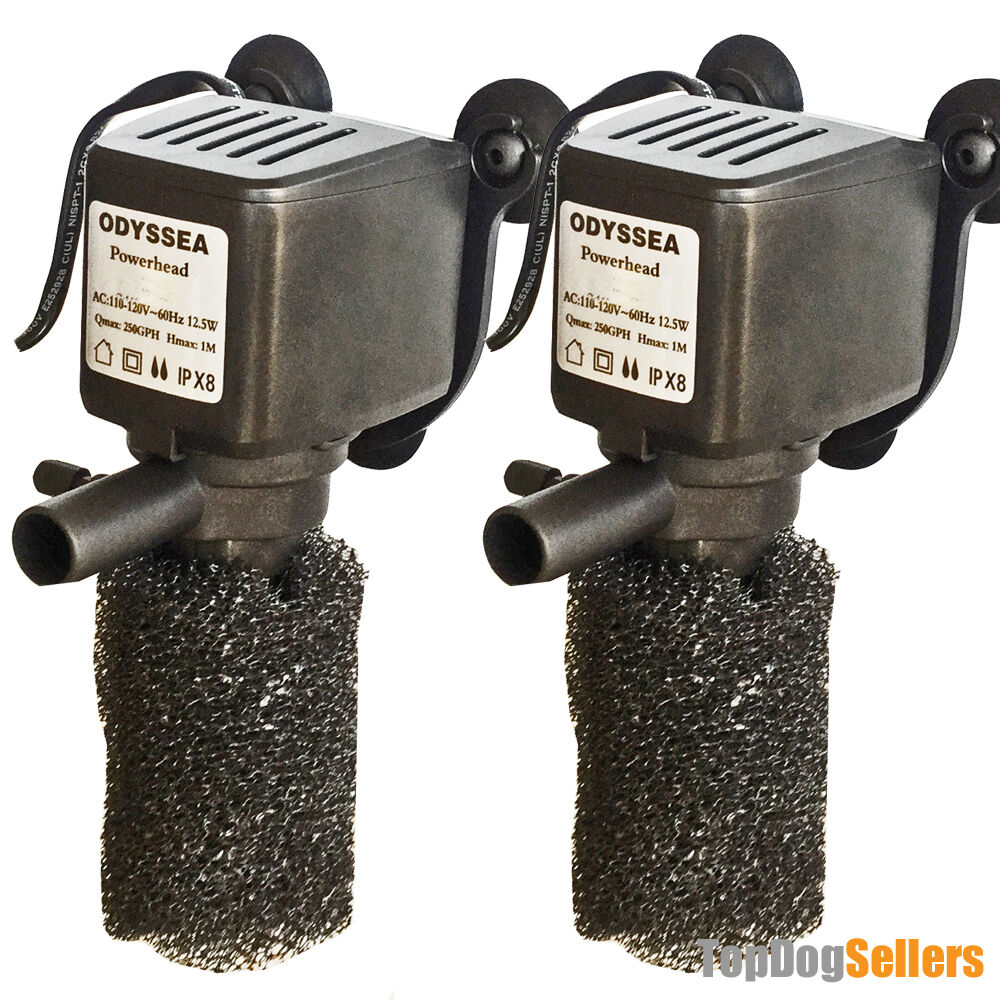 2x 250 kit power head aquarium fish water pump submersible for Fish water pump