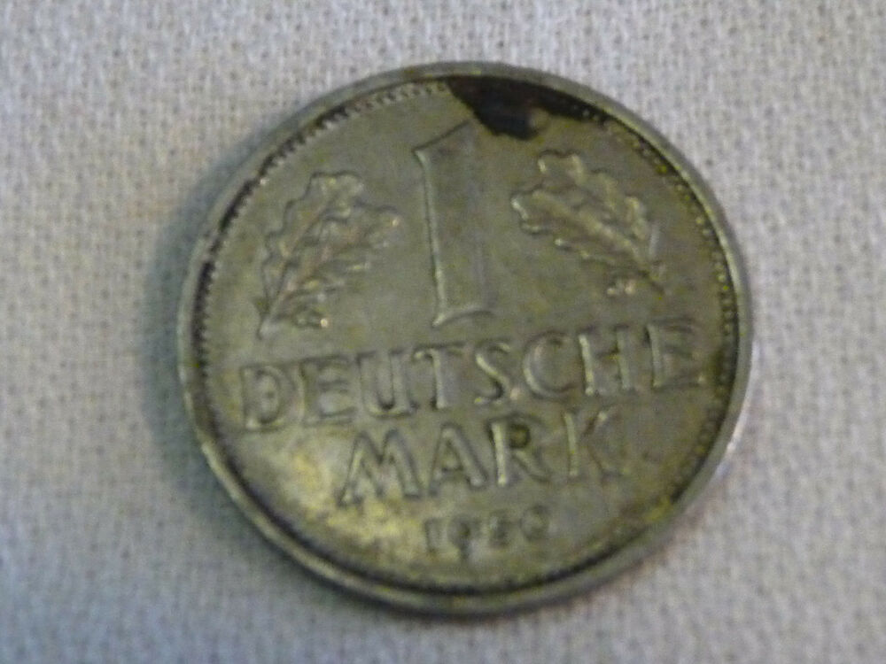 1950 j german 1 deutsche mark coin ebay. Black Bedroom Furniture Sets. Home Design Ideas