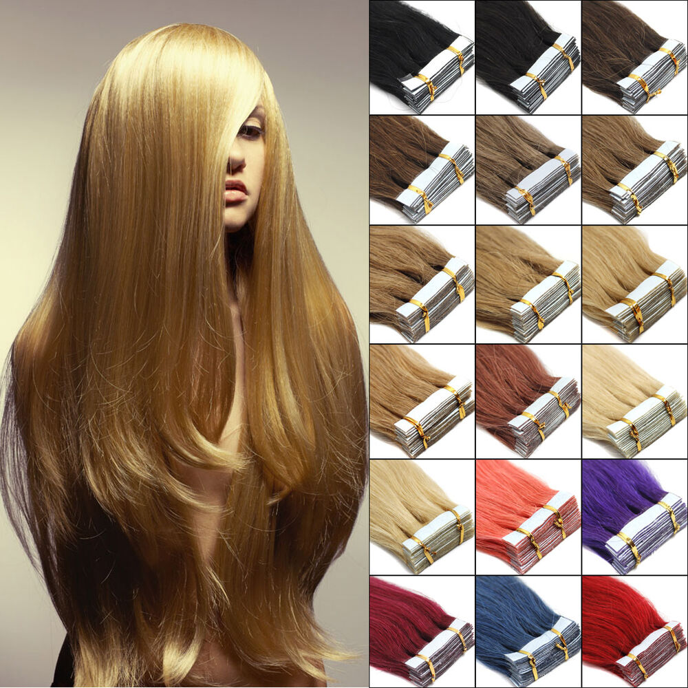 100 remy human hair extensions 18 39 39 super 3m tape in pu skin weft hair 20pcs ebay. Black Bedroom Furniture Sets. Home Design Ideas