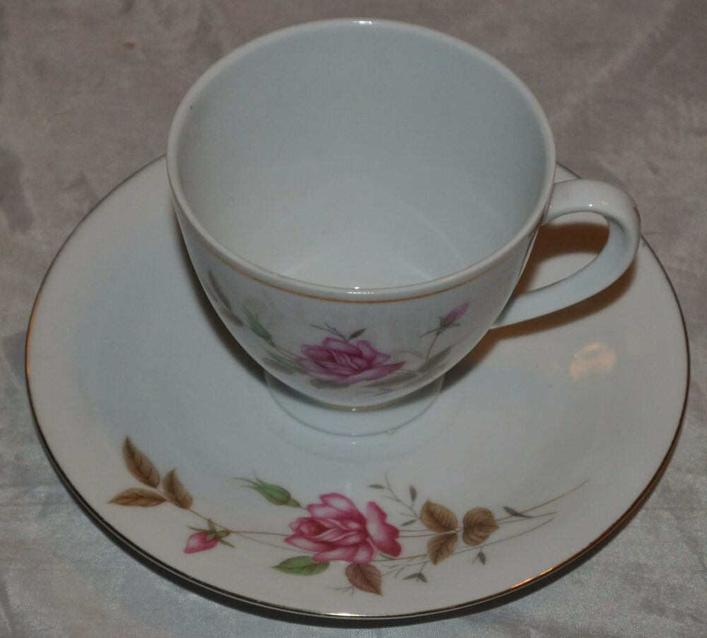 Vintage Tea Cup And Saucer Roses Made In China Rose Ebay