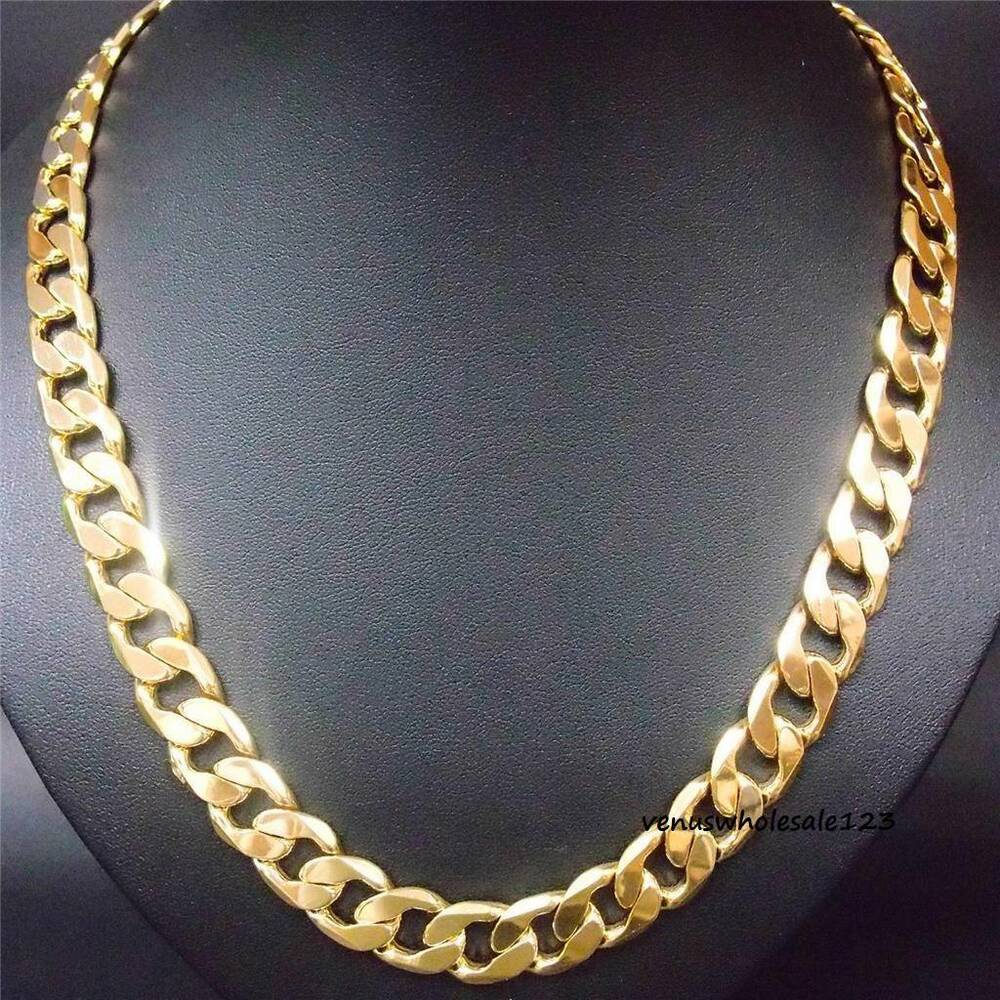 24 Quot Stapmed Italy 24k Heavy Yellow Gold Filled Men S