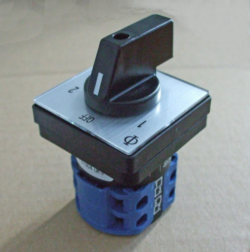 Mains Power Selector Switch 16amp  2 Pole 2 Way Pss016