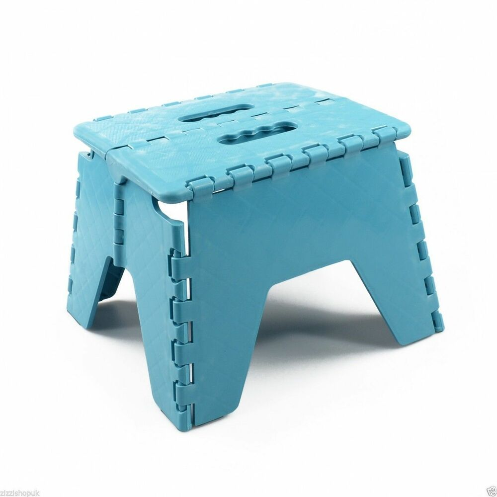 Blue New Plastic Multi Purpose Folding Step Stool Home