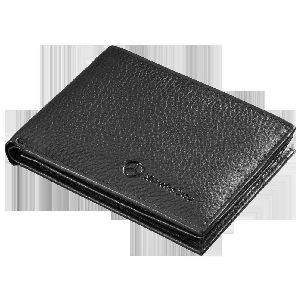 mercedes benz mens black leather credit card wallet. Black Bedroom Furniture Sets. Home Design Ideas