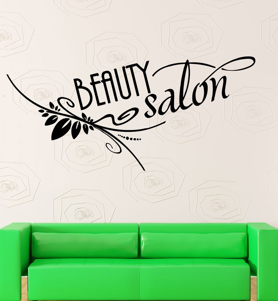 beauty salon wall stickers spa hair stylist hairdresser vinyl decal ig2353 ebay. Black Bedroom Furniture Sets. Home Design Ideas