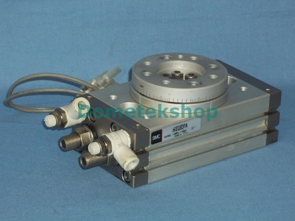 Smc Emsqb30a Rotary Actuator With Table Ebay