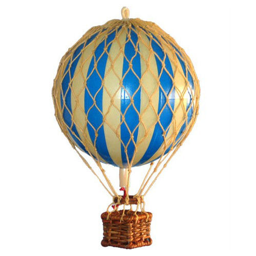 Small model hot air balloon blue mobile ebay for How to make a small air balloon