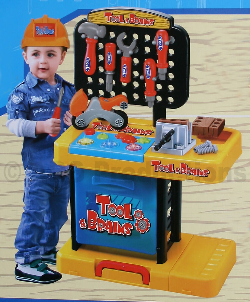 My Workshop Tools Set Workbench Toy Kid Child Table Role