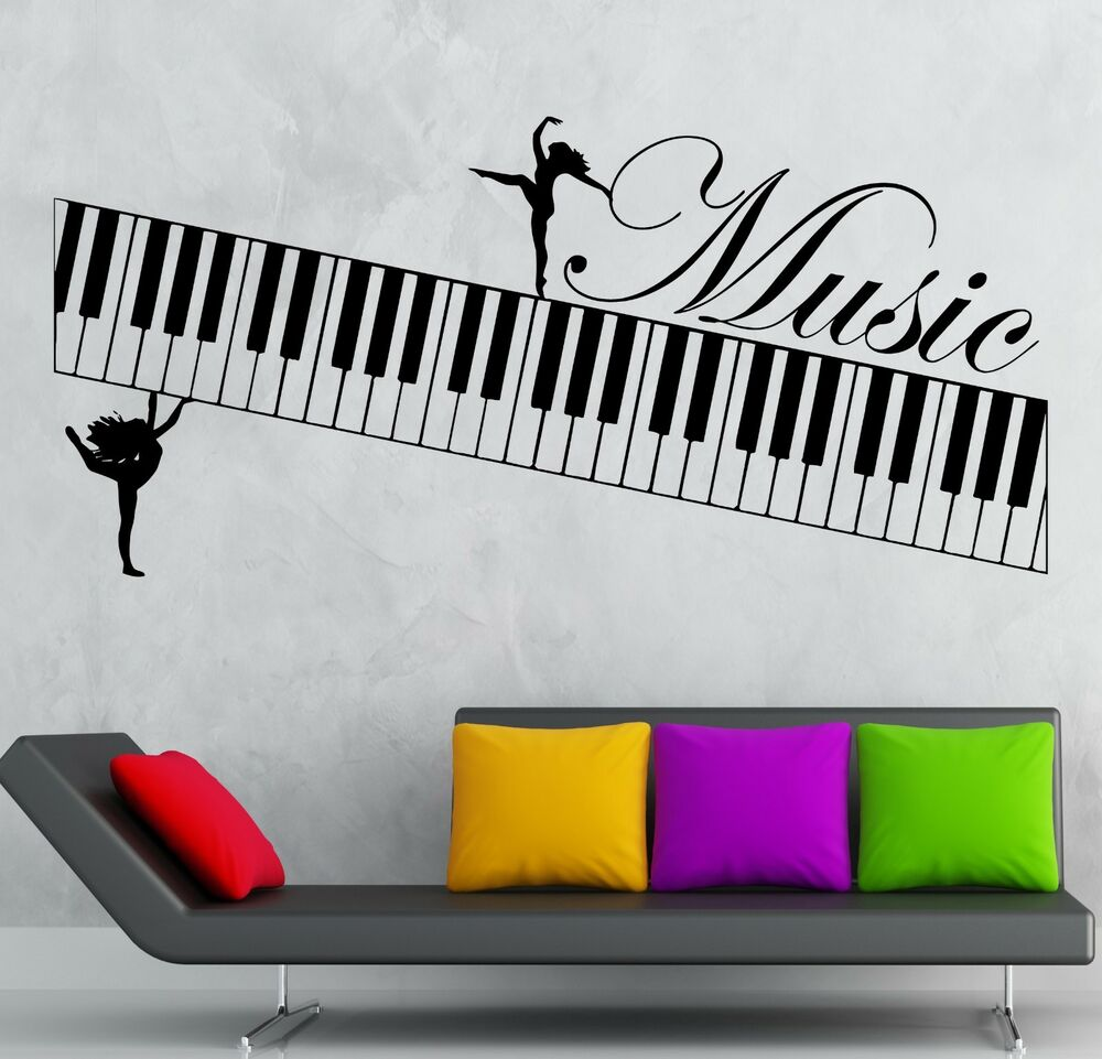 Music wall stickers muse piano musical instrument vinyl - Over the garden wall soundtrack vinyl ...