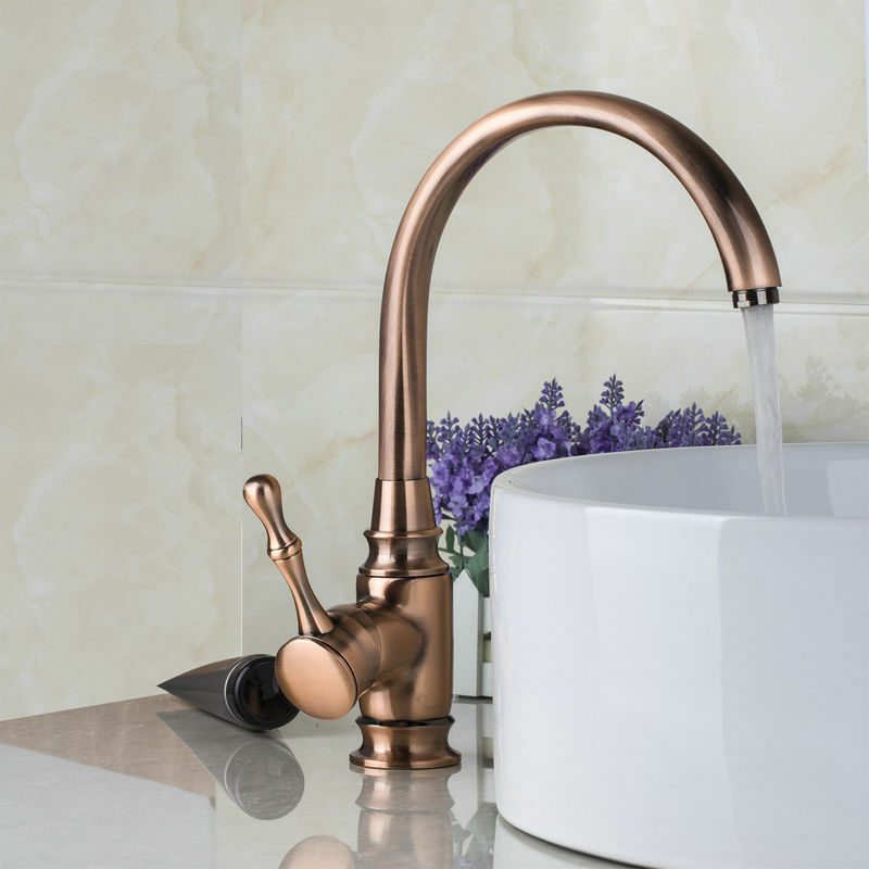 single handle bathroom kitchen sink antique copper finish. Black Bedroom Furniture Sets. Home Design Ideas