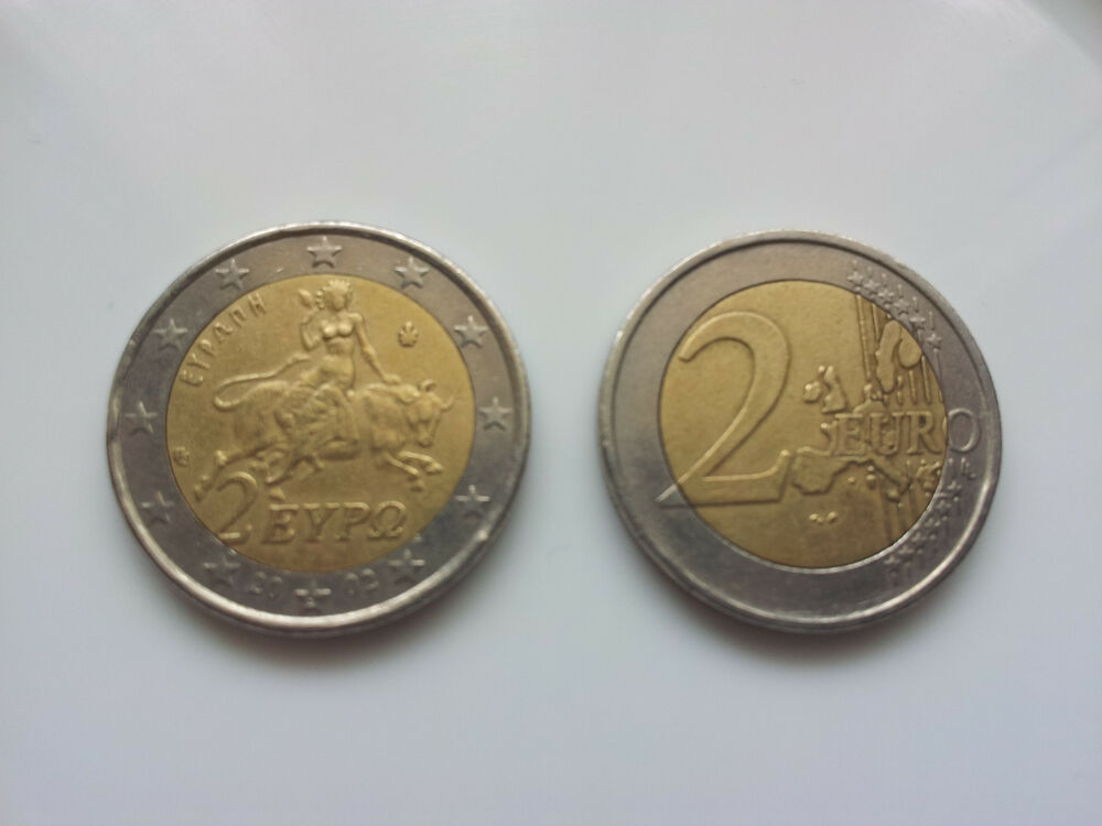 2 euro coin from greece used ebay. Black Bedroom Furniture Sets. Home Design Ideas