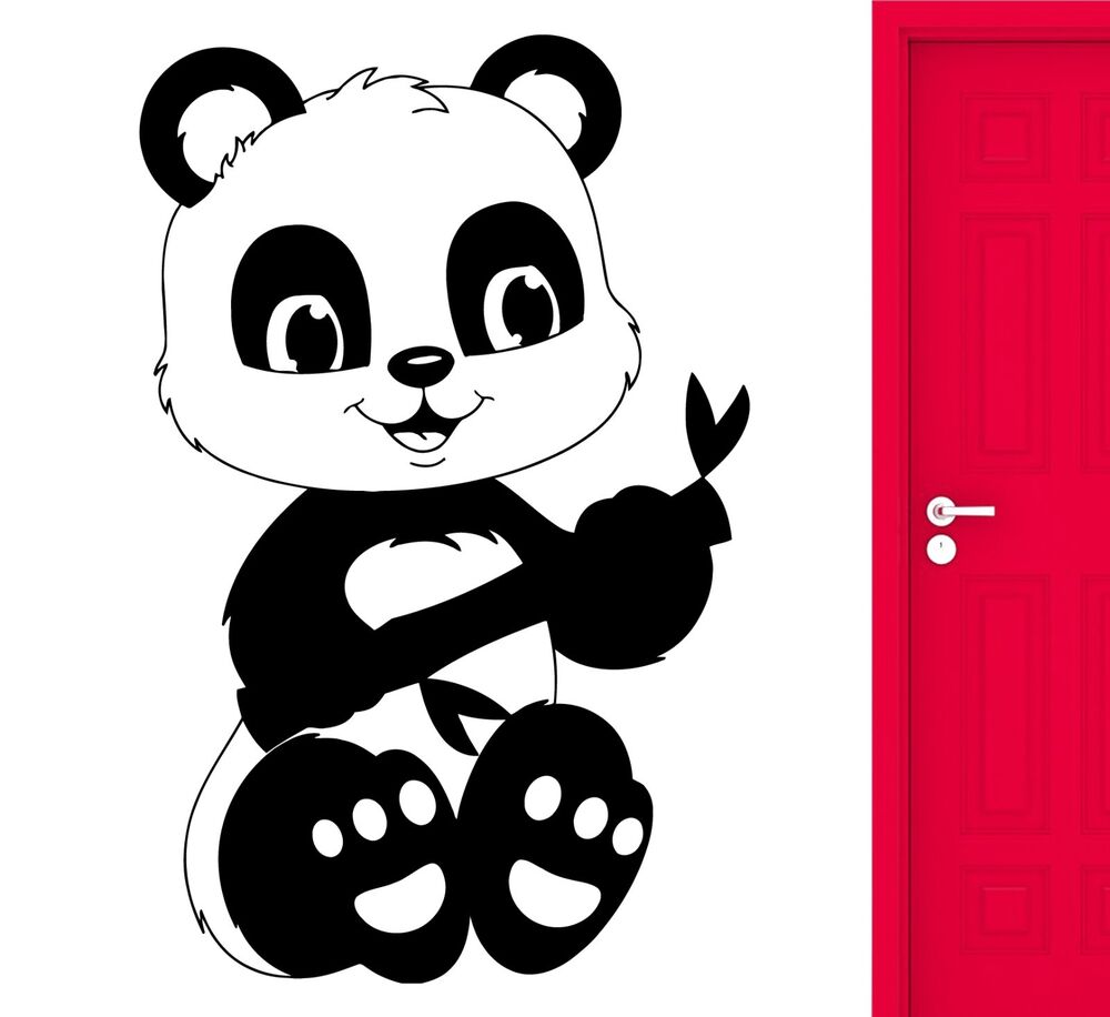 Wall Sticker Panda Animal Bear Girly Cute Decal For Living