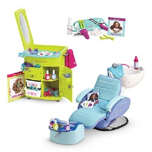 American Girl Salon Set Hair Salon Spa Chair Styling Set
