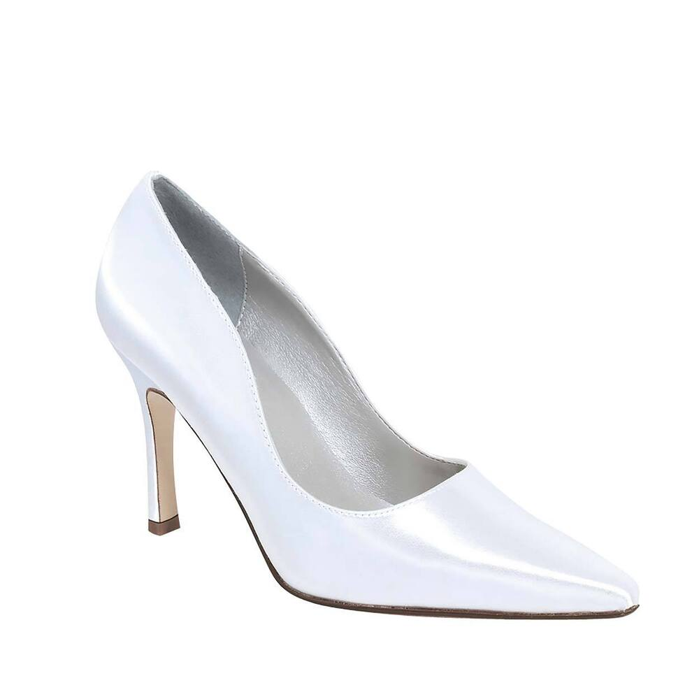 White Satin Dyeable Wedding Shoes